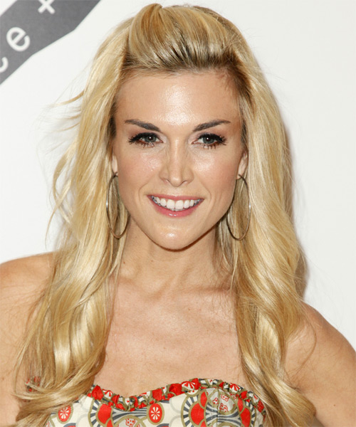 Tinsley Mortimer Half Up Long Curly Casual  Half Up Hairstyle