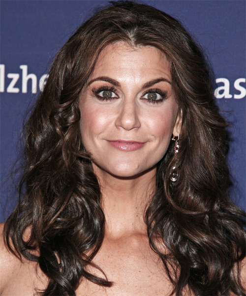 Samantha Harris Long Wavy Casual   Hairstyle