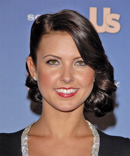 Audrina Patridge Medium Wavy Formal   Updo Hairstyle