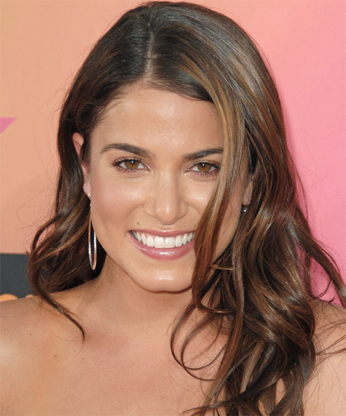 Nikki Reed Long Wavy Casual   Hairstyle