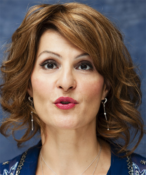Nia Vardalos Medium Wavy Formal   Hairstyle