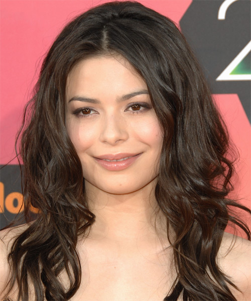 Miranda Cosgrove Long Wavy Casual   Hairstyle   - Medium Brunette