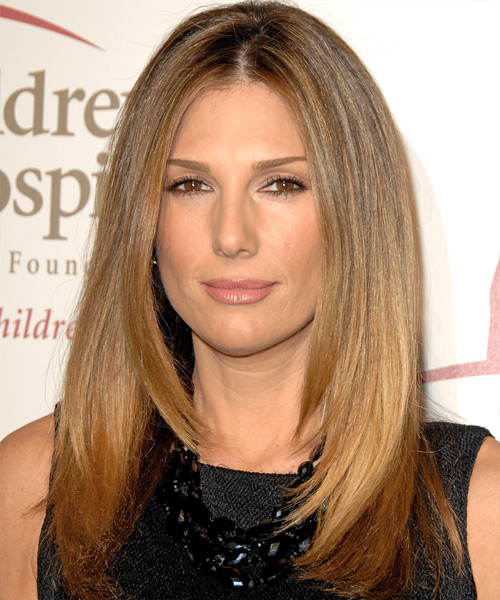 Daisy Fuentes Long Straight Casual   Hairstyle