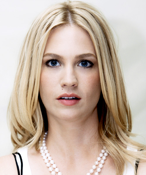 January Jones  Long Straight Casual   Hairstyle