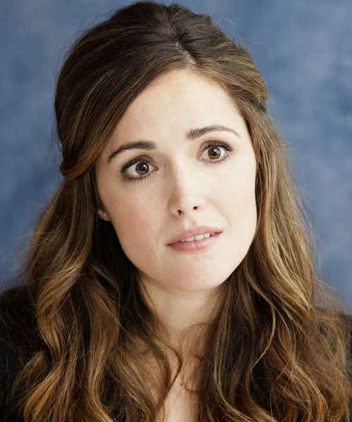 Rose Byrne Half Up Long Curly Casual  Half Up Hairstyle
