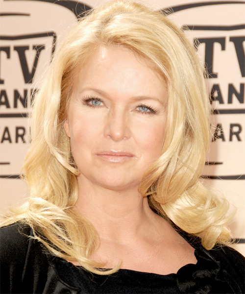Donna Dixon Long Wavy Formal   Hairstyle