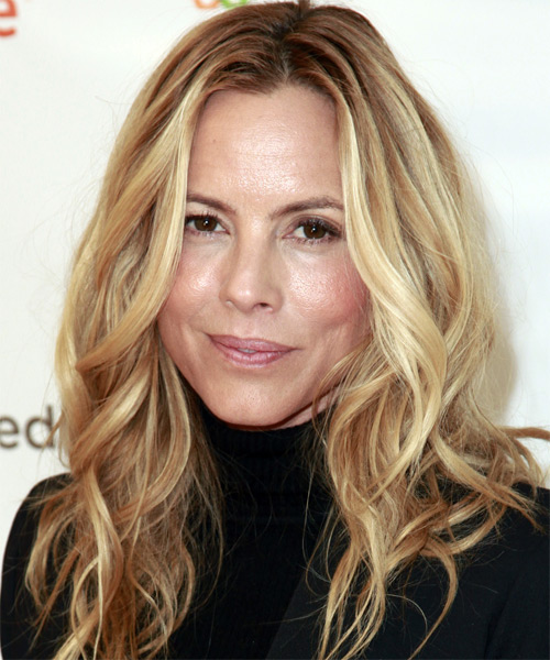 Maria Bello Long Wavy Casual    Hairstyle
