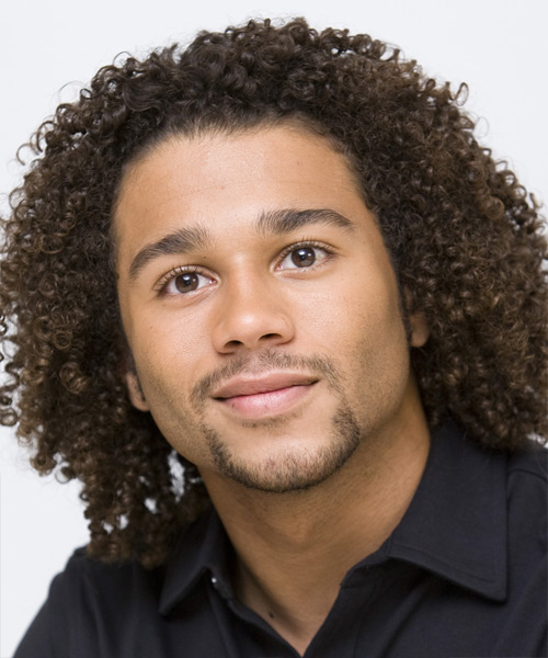 Corbin Bleu Medium Curly Casual  Afro  Hairstyle