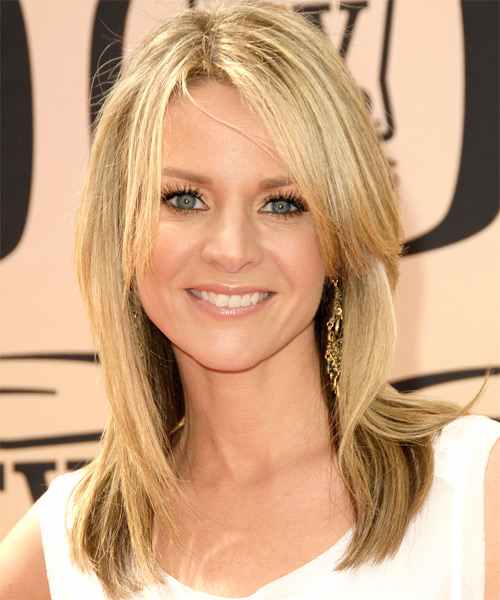 Jessalyn Gilsig Long Straight Casual   Hairstyle