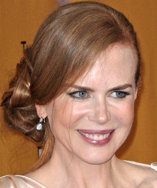 Nicole Kidman Updo Long Straight Formal  Updo Hairstyle