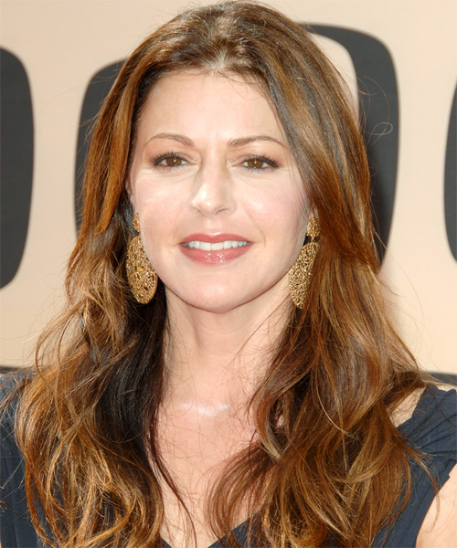 Jane Leeves Long Wavy Casual   Hairstyle