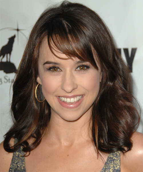 Lacey Chabert Medium Wavy Casual   Hairstyle