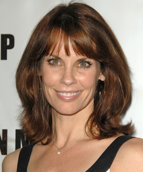 Alexandra Paul Medium Straight Casual   Hairstyle