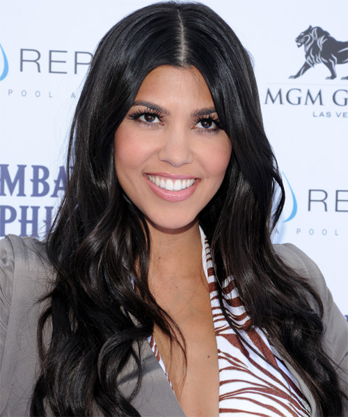 Kourtney Kardashian Long Wavy Casual    Hairstyle