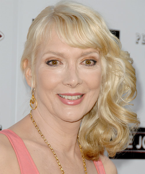 Glenne Headly Half Up Long Curly Formal  Half Up Hairstyle