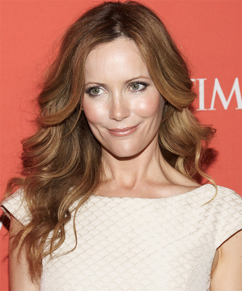 Leslie Mann Long Wavy Formal   Hairstyle