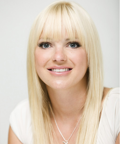 Anna Faris Long Straight Formal   Hairstyle