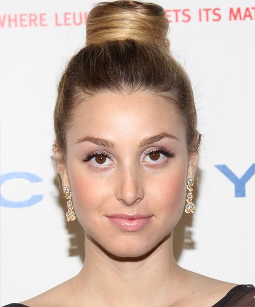 Whitney Port  Long Curly Formal   Updo Hairstyle   - Dark Blonde Hair Color