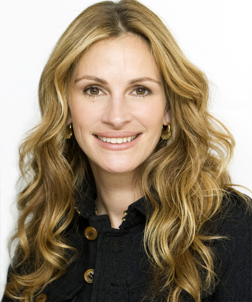 Julia Roberts Long Wavy Casual   Hairstyle