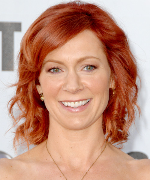 Carrie Preston Medium Wavy Formal   Hairstyle