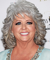 Paula Deen Medium Wavy Formal    Hairstyle
