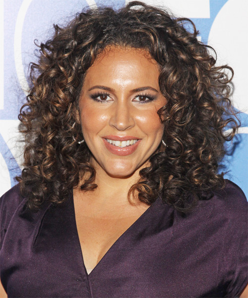 Diana Maria Riva Long Curly Formal   Hairstyle