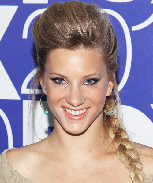 Heather Morris Formal Long Straight Updo Hairstyle