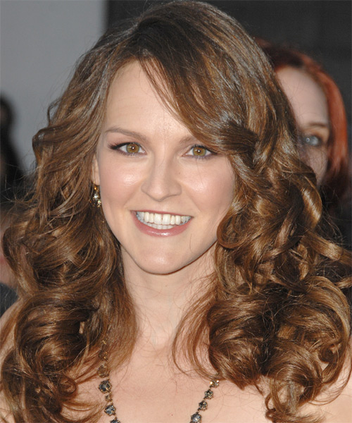 Carla Gallo Long Wavy Formal   Hairstyle