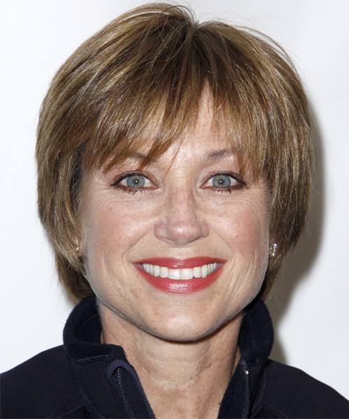 Dorothy Hamill Short Straight Formal   Hairstyle