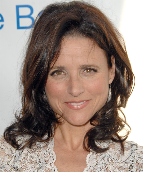 Julia Louis Dreyfuss Medium Wavy Casual   Hairstyle