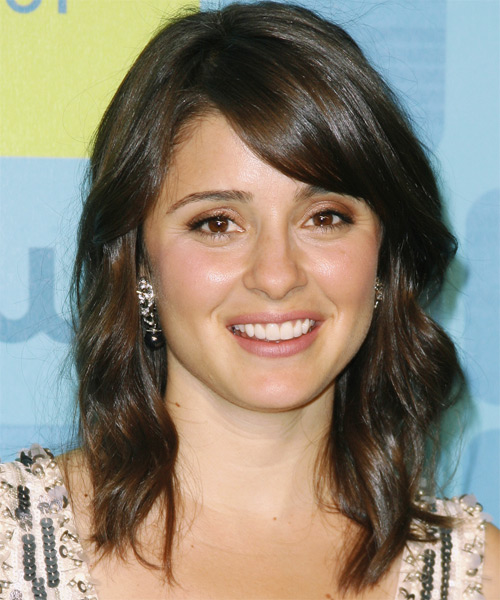 Shiri Appleby Medium Wavy Casual   Hairstyle   - Medium Brunette