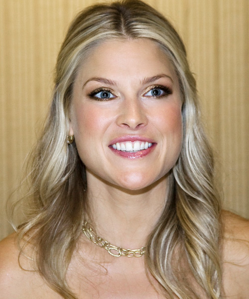 Ali Larter Half Up Long Curly Casual  Half Up Hairstyle