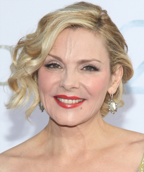 Kim Cattrall Updo Medium Curly Formal  Updo Hairstyle