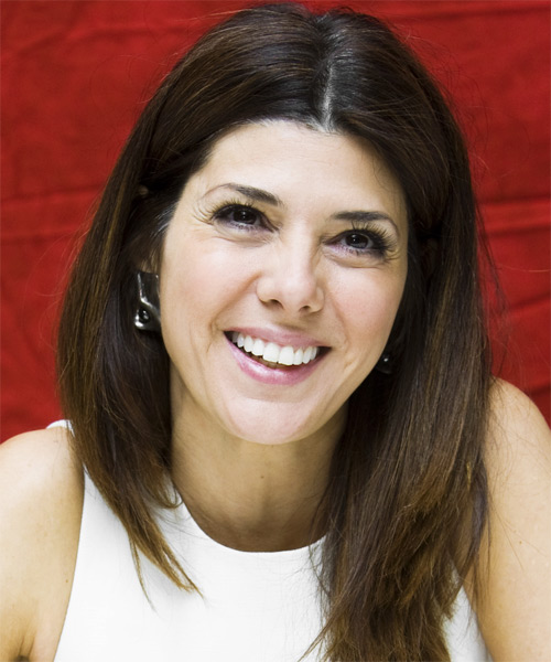 Marisa Tomei Long Straight Casual   Hairstyle