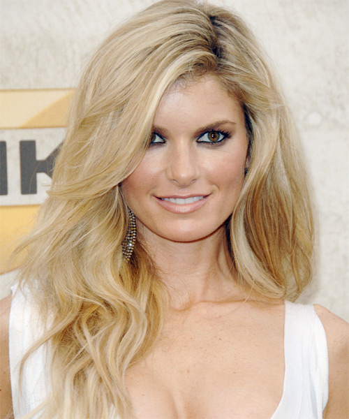 Marisa Miller Long Wavy Formal   Hairstyle