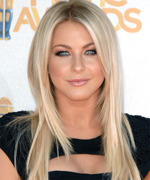Julianne Hough Long Straight Formal   Hairstyle