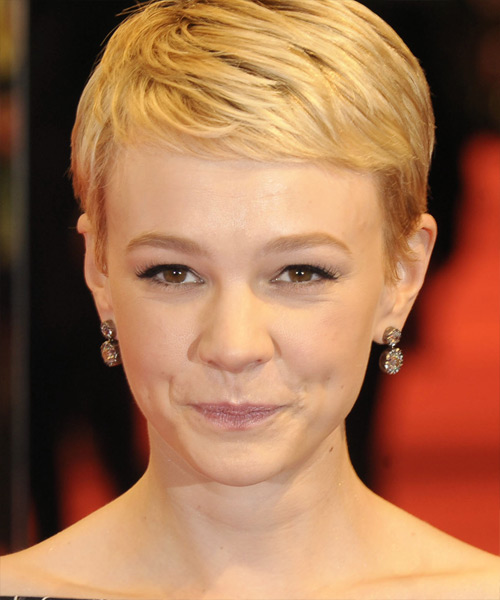 Carey Mulligan Short Straight Formal   Hairstyle