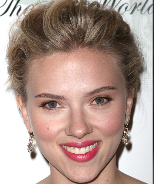Scarlett Johansson Updo Long Curly Formal  Updo Hairstyle