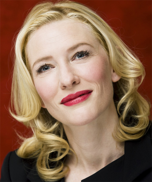 Cate Blanchett Medium Wavy Formal    Hairstyle