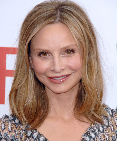 Calista Flockhart Medium Straight Casual   Hairstyle