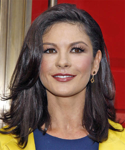 Catherine Zeta-Jones Long Straight Casual   Hairstyle