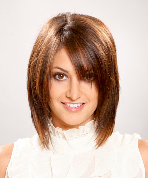 Medium Straight Casual    Hairstyle