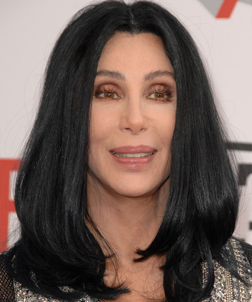 Cher Long Straight Hairstyle