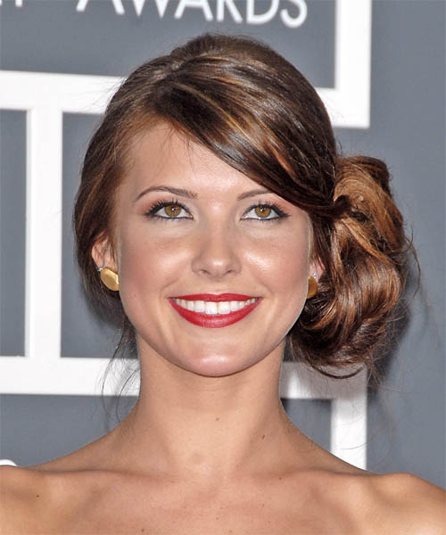 Audrina Patridge  Long Curly Formal   Updo Hairstyle