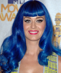 Katy Perry Long Wavy Alternative    Hairstyle