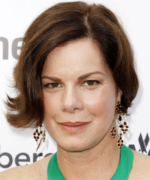 Marcia Gay Harden Short Straight Casual   Hairstyle