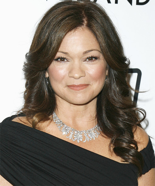 Valerie Bertinelli Long Wavy Formal   Hairstyle