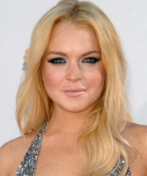 Lindsay Lohan Long Straight Casual   Hairstyle