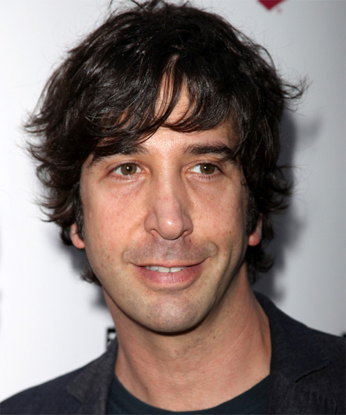 David Schwimmer Medium Wavy Hairstyle