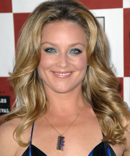 Elisabeth Rohm Long Wavy Formal   Hairstyle